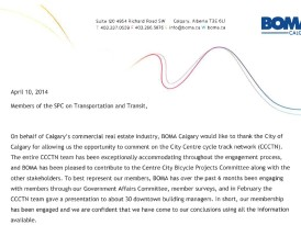 BOMA Calgary Cycle Track Submission